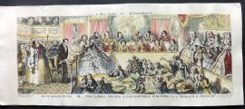 Cruikshank 1859 HCol Satire Print. As it Ought to be